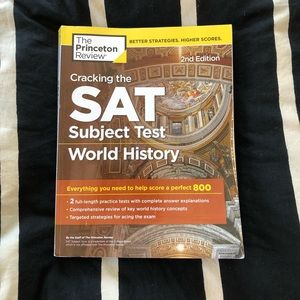SAT world history princeton review book